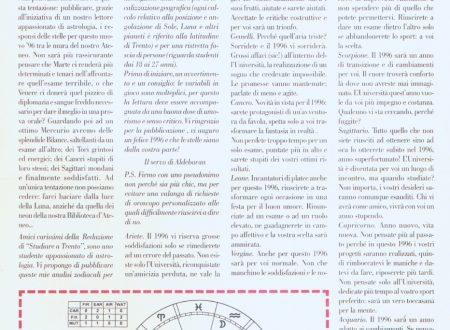Il mio oroscopo su Studiare a Trento