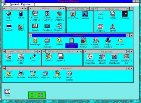 """Il mio """"desktop"""" di 25 anni fa"""