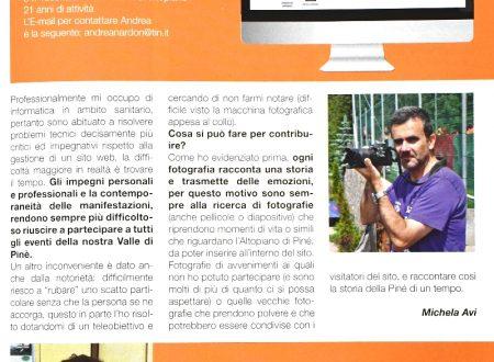 Intervista su Pinè-Sover Notizie