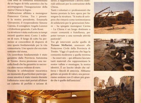 Articolo sull'inaugurazione Chiesa di Concordia
